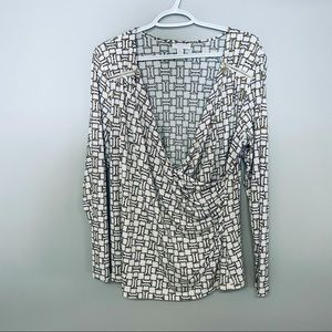 Charter Club womens white and gold top 0X